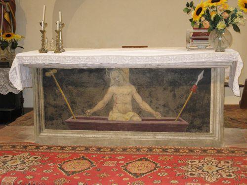 L'altare della Chiesa della Grancia di Spedaletto