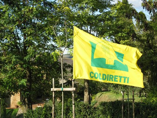 La bandiera Coldiretti