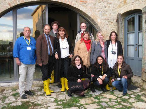 Il gruppo dell'Educational con Giancarlo Toso
